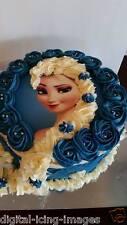 Cake topper edible  image icing Frozen Elsa REAL FONDANT not rice paper