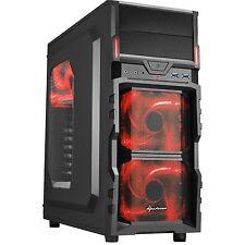 Sharkoon VG5-W red, Tower-Gehäuse, schwarz