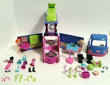 Mattel 2004 Polly Pocket Lights Sound Music Club Groove Party Par-tay Bus Dolls