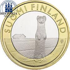 Finnland 5 Euro Münze 2015 bfr. Tiere der Provinzen: Hermelin - Österbotten