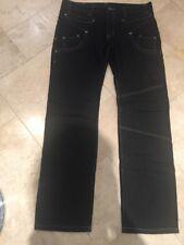 New Boy Raw Men's Dark Blue Jeans Trousers UK 36