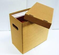 "1 x 12"" Vinyl Record Storage Cardboard Archive Box - Hold 50 LPs/70 12"" Singles"