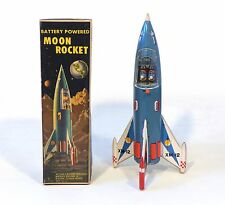 1960s ORIGINAL Tin Japan Space XM-12 MOON ROCKET EXC in ORIG BOX Works!!!