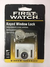 First Watch Keyed Window Lock Security For Aluminum Sliding Windows White (NEW)