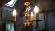 Bronze Vintage French Chandelier 3 Arm Light Fittings Pendant Light Ormalu