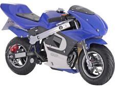 MotoTec GBmoto Gas Pocket Bike 40cc 4-Stroke Blue 20 Mi/Tank Chain Drive Age 13+