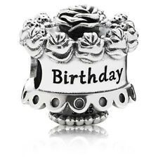 New Authentic Pandora Happy Birthday Flower Cake Sterling Silver Charm #791289