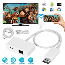 Wireless Display Dongle Adapter Stick 4K HD 2.4/5G Miracast DLNA Airplay EZCast