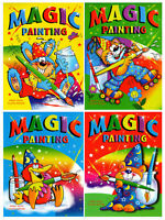 4 x A4 MAGIC PAINTING COLOURING ART BOOKS FOR CHILDREN NO MESS JUST WATER