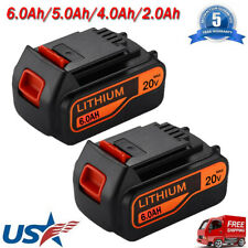 6.0Ah for Black & Decker LBXR20 20V Lithium Battery LB2X4020 LB20 LBXR20-OPE NEW