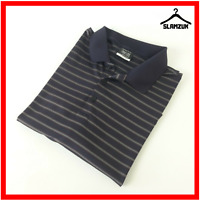 Nike Mens Golf Polo Shirt Dri Fit XL Xlarge Black Striped Collared Sport Top