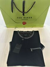Ted Baker Men's Navy T-Shirt T Zip Pocket Cotton Blend Size 5 UK XL : Brand New