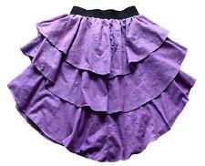 Vintage 80's Purple Patterned Rara Skirt Retro 6 - 8