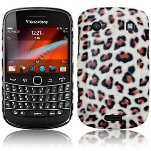 Leopard Print PU Leather Hard Back Case Cover for Blackberry Bold 9900 9930