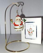 Precious Moments Jingle Bell Santa Ornament Share Gift of Love Nib 121050
