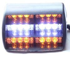 White Yellow Emergency Warning Windshield Dashboard Flash Strobe Light 18 LEDs
