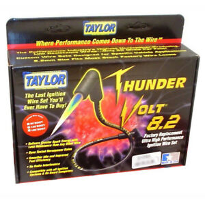 Taylor Spark Plug Wire Set 84278; ThunderVolt 8.2mm Red OE HEI (Male) for Dodge