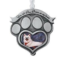 Paw Prints On My Heart Pet Love Photo Ornament - Pet Memorial - Pet Supplies