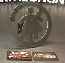 """No Fat Chicks Hitch Cover - 1/8"""" Steel - Tow Towing Reese Custom Truck Funny"""