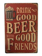 Metal vintage tin plaque pub déco tavern bar sign wall poster shop rétro home