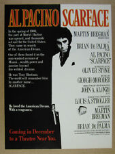 1983 Scarface movie film promo vintage print Ad