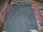 Boston Prepatory Co. Men's Patriotic / Uncle Sam Stars & Stripes Shirt • Size L