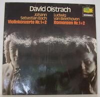 "DAVID OISTRACH BACH VIOLINKONZERTE NR. 1 + 2 BEETHOVEN ROMANZEN 12"" LP (f517)"