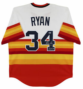 """Astros Nolan Ryan """"HOF 99"""" Signed Nike 1980 Cooperstown Collection Jersey BAS"""