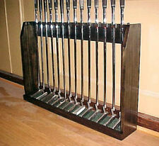 Wood Display Case Floor Rack for set 14 Golf Clubs Irons Putters Collectors Gift