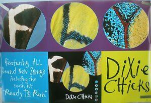 RARE DIXIE CHICKS FLY 1999 VINTAGE ORIGINAL MUSIC RECORD STORE PROMO POSTER