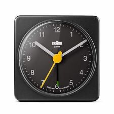 Braun Classic Square Travel Alarm Clock BNC002 Black