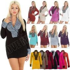 V-Neck Long Sleeve Winter Dresses for Women