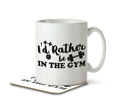 I'd Rather Be In The Gym - Mug and Coaster by Inky Penguin