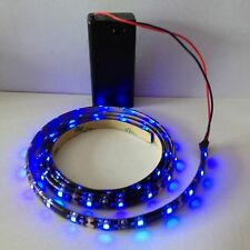 Costume Lighting Blue Led Light, 9V Battery Operated 500mm Waterproof Strip.