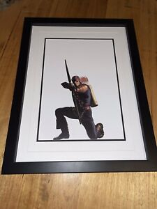 Framed Marvel Comics Character Portrait Poster By Alex Ross - Hawkeye
