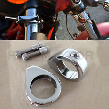 Turn Signal Mount Bracket 49mm Fork Relocation Clamps Mount Indicator For Harley
