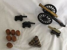 Cast Iron Brass Lot 11 Pcs Cannon Barrels St.Augustine,Fl