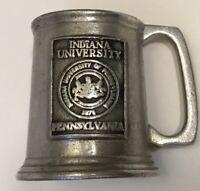 Pewter Indiana University Pennsylvania Shot Glass Miniature Mini Mug Bar College