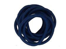 Navy Blue Snag Free Hairband Hair Elastics School Bobbles No Metal