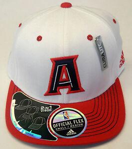 NBA Atlanta Hawks Adidas 2 In 1 Visor FLAT/BEND/CURVED Official Flex Cap Hat