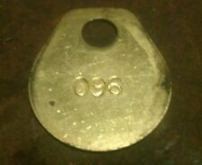 vintage brass numbered ear tag cow cattle old antique livestock ID