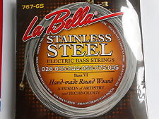 LA BELLA 767-6S STAINLESS STEEL ROUND WOUND STRINGS FOR FENDER ETC BASS VI 26-95