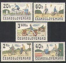 Czechoslovakia 1979 Bicycles/Bikes/Cycling/Transport/Animation 5v set (n35612)