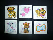 18 x Glamour Dog Tattoos Great for Kids Parties or Stocking Fillers