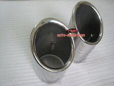 CHROME EXHAUST MUFFLER TIP PIPE For AUDI Q7 3.6TFSI 3.0TDI 2009 2010 2011 2012
