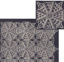 Vintage Crochet PATTERN Motif Bedspread Octagon Popcorn