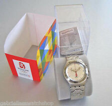 GRAPHIC COMBINATION! Swatch RECALLED (NO HEAD) Irony Chrono in SP. SLEEVE-RARE!