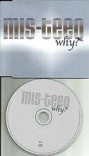 MIS TEEQ Why w/ RADIO EDIT & MIXES Europe PROMO DJ CD Single USA SELLER misteeq