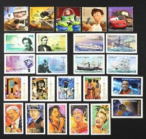 US Year 2011 Collection of 6 complete sets, in 24 single stamps Mint NH