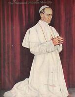Extension Catholic Magazine January 1950 James Lockhart cover of Pope Pius XII